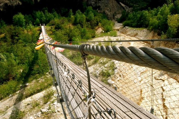 Ferientipp Wallis, Bhutanbrücke, https://www.pfyn-finges.ch/